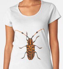 Tuft bearing longhorn beetle (Aristobia approximator) Women's Premium T-Shirt