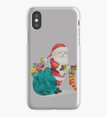 father christmas with gifts and toys iPhone Case/Skin