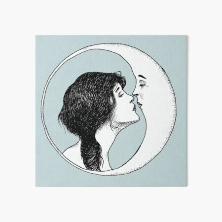 The Lady and the Moon Art Board Print