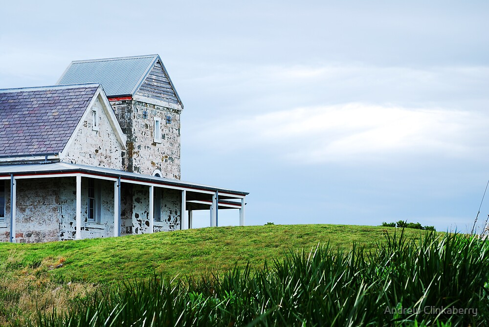 Lighthouse keepers house - Cape Otway by Andrew Clinkaberry