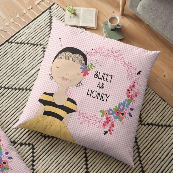 Bee Girl Floor Pillow