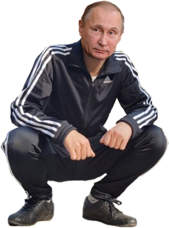 "Artist Blocks >> ""Putin Gopnik"" Stickers by Dipardiou 