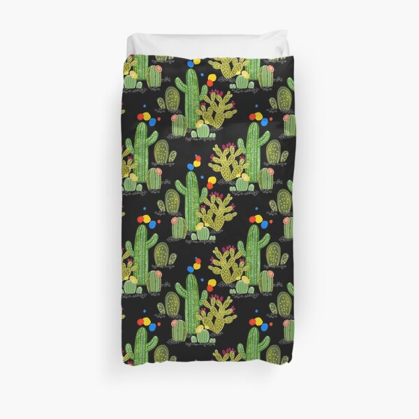 Wonder Cacti by PaintMeBright Duvet Cover
