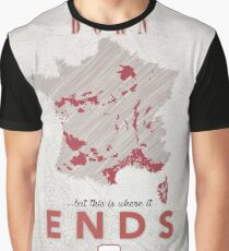 French Wine - Born there, Ends here Graphic T-Shirt