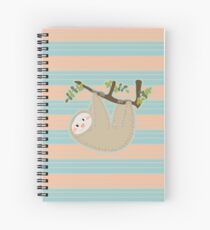 Cute Sloth Hanging from Tree Spiral Notebook