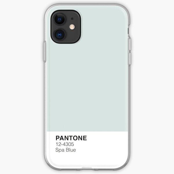 Spa Blue Pantone Funda blanda para iPhone