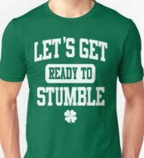 04a4683e9 Funny St. Patrick's Day Womens American Apparel Shirt - Let's Get Ready To  Stumble Slim