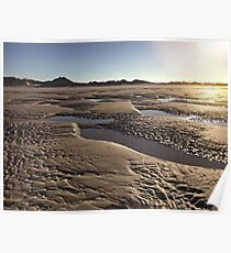 Inlet Beach Low Tide Sunset Photography Poster