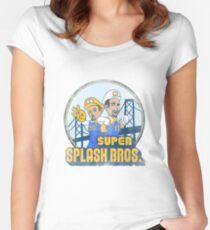 Super Splash Bros  Women's Fitted Scoop T-Shirt