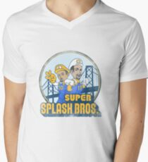 Super Splash Bros  Men's V-Neck T-Shirt
