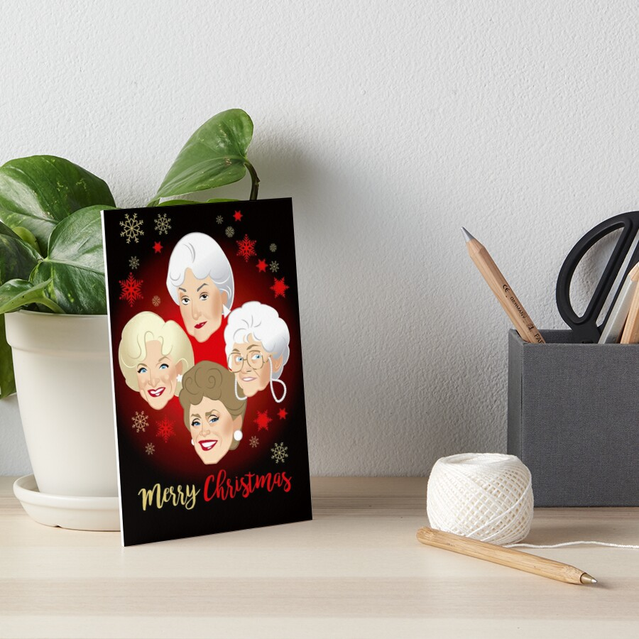 Golden Christmas Art Board Print
