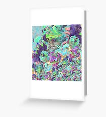 Wild and Colorful Abstract Greeting Card