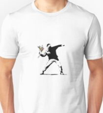 Banksy - Boy with flowers Unisex T-Shirt