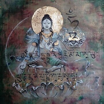 White Tara with mantra by tillyworld