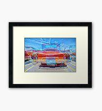 CLASSIC OLS CAR REAR MATRIX SIX Framed Print