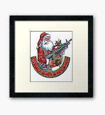 Machine Gun Santa   Framed Print