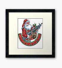 Machine Gun Santa   Framed Print