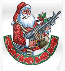 Machine Gun Santa   Poster