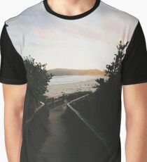 Cellito Beach Sunset Graphic T-Shirt