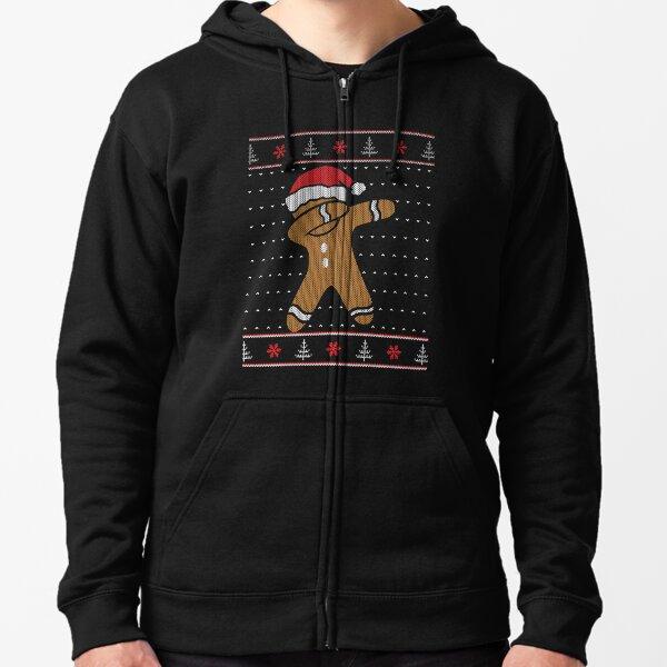 Ugly Christmas Sweater: Dabbing Gingerbread Man Zipped Hoodie