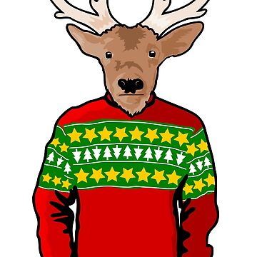 Ugly Christmas Sweater Reindeer by pda1986
