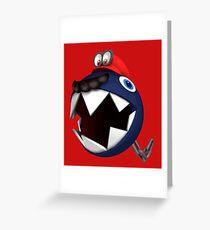 Chain Chomp Mario Greeting Card