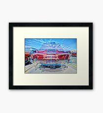 CLASSIC OLD CAR REAR MATRIX SEVEN Framed Print