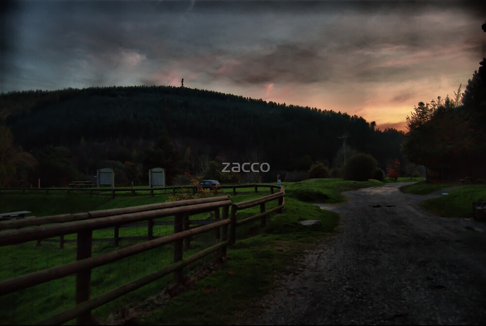 mountain sunset port talbot by zacco