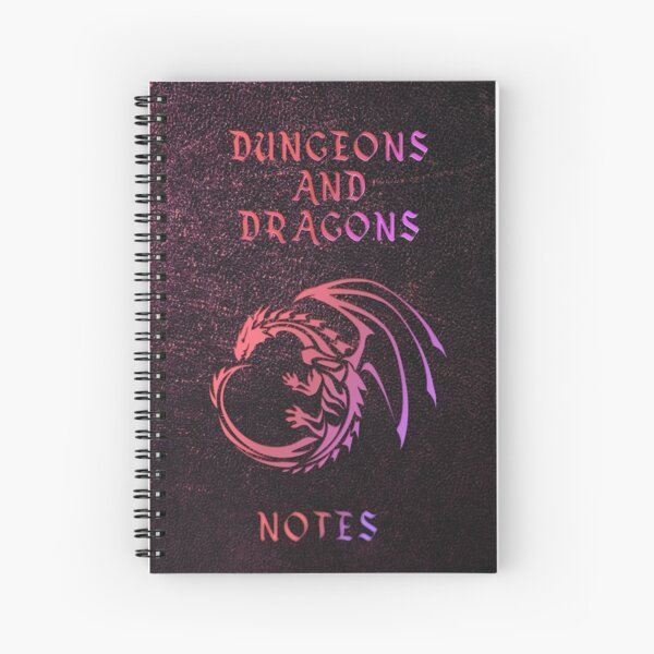 Dungeons and Dragons Notebook Spiral Notebook
