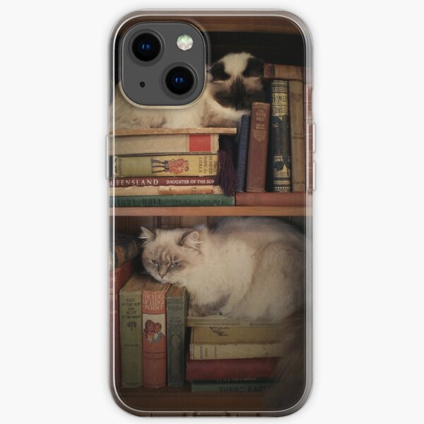 Library Cats iPhone Soft Case
