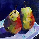 Pears on Granny's plate by LucyStripes