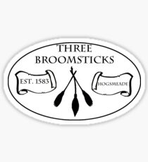 Three Broomsticks Sticker