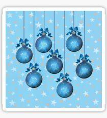 Blue Ornaments #1 Sticker
