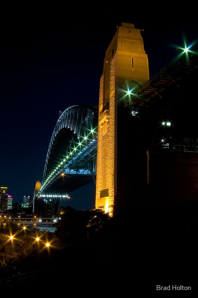 Sydney Habour Bridge at Night by Brad Holton