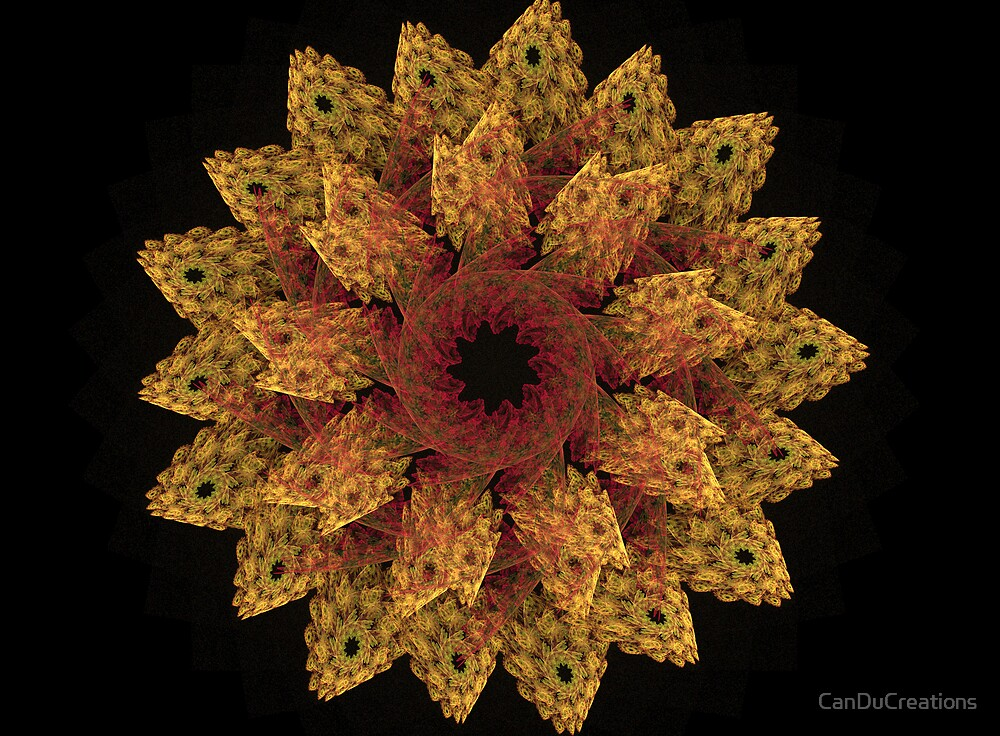 Flower fractal by CanDuCreations