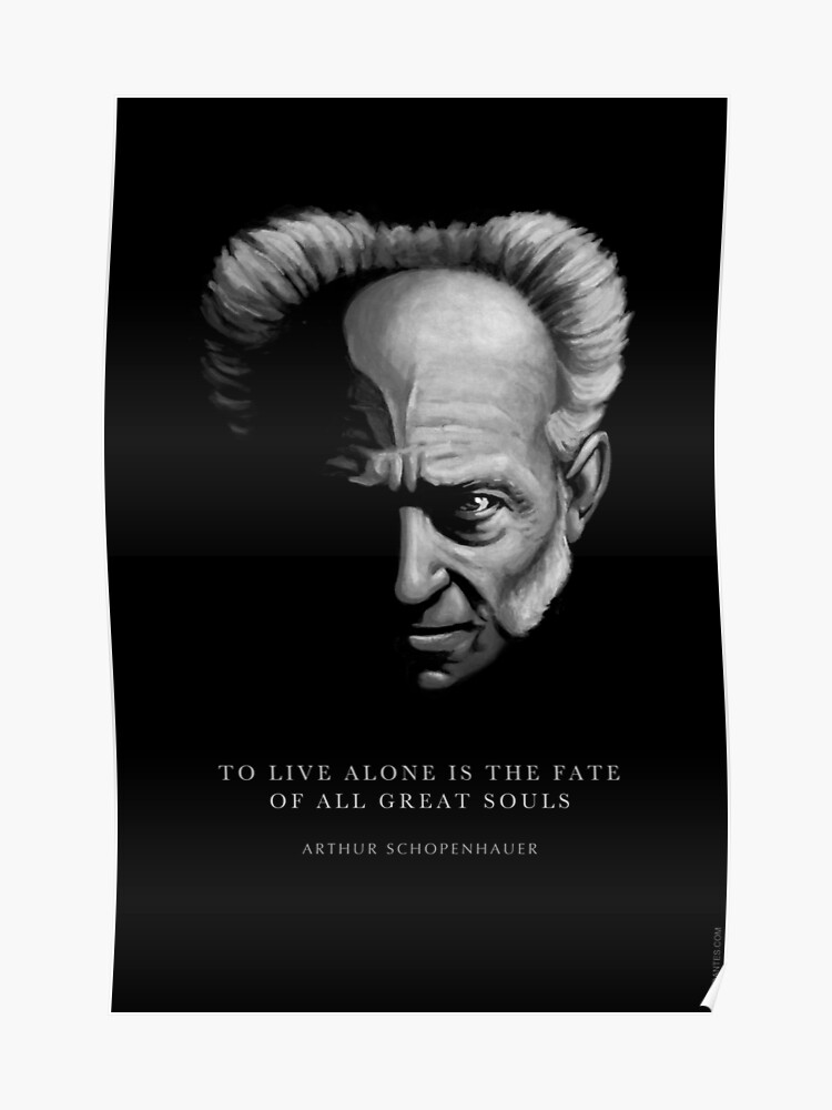 Schopenhauer Citation Vivre Seul Poster