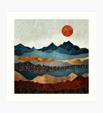 Amber Dusk Art Print