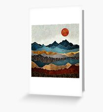 Amber Dusk Greeting Card
