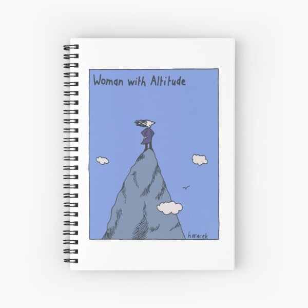 Woman with Altitude - Full colour Spiral Notebook