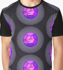 Cracked Amethyst Gem Graphic T-Shirt