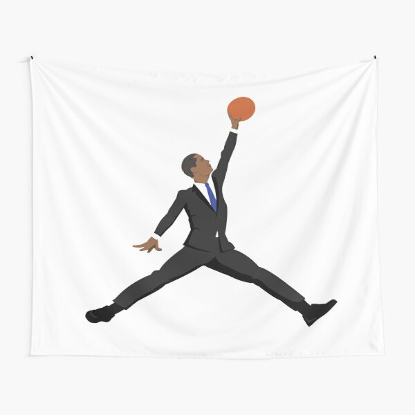 Obama black suit x Jumpman Tapestry