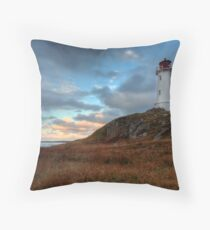 Louisbourg Lighthouse Throw Pillow