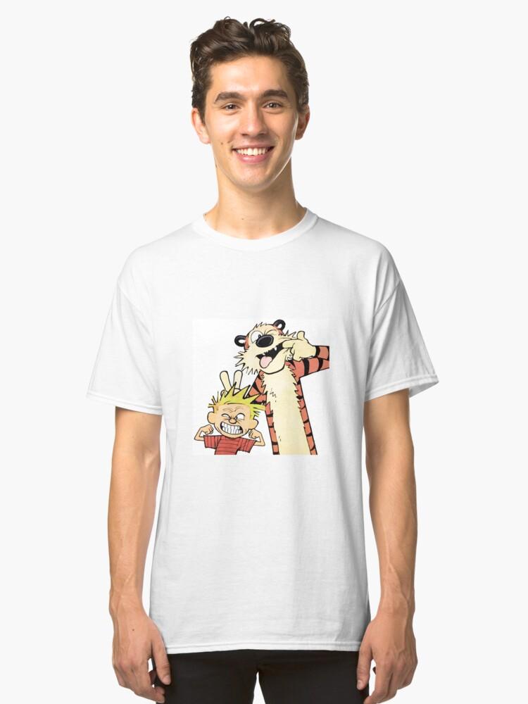 Calvin and Hobbes-Original Classic T-Shirt Front