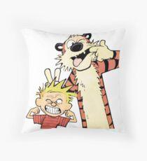 Calvin and Hobbes-Original Throw Pillow