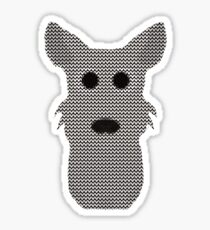 West Highland Terrier Ugly Christmas Sweater Design Sticker