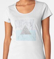 Marble Triangle Blue Women's Premium T-Shirt