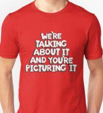 Camiseta unisex camiseta de boca grande