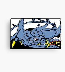 Dreadful Category IV Dragon. Extremely Dangerous.  Canvas Print
