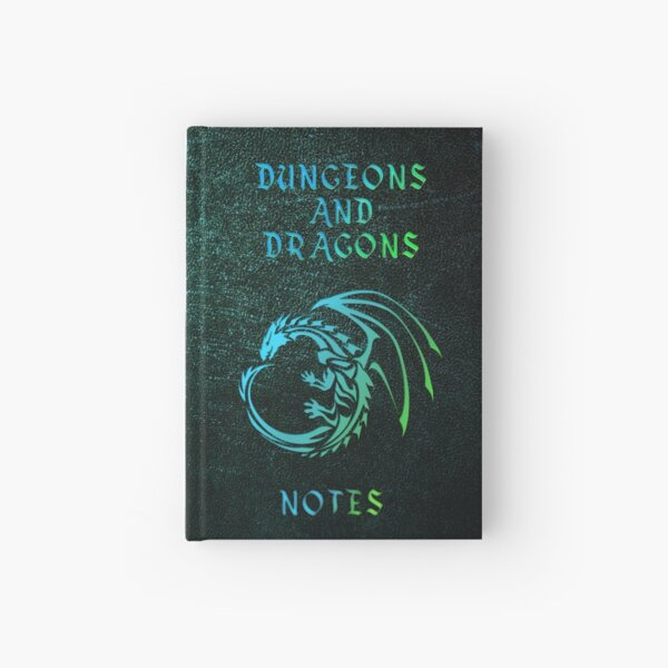 Dungeons and Dragons Notebook Green Hardcover Journal