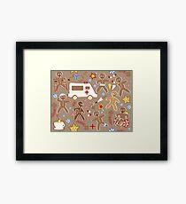 Gingerbread Casualties Framed Print